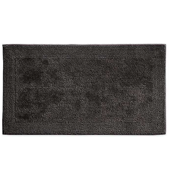 Alternate image 1 for Grund® 1-Foot 5-Inch x 2-Foot Organics Puro Bath Rug in Graphite