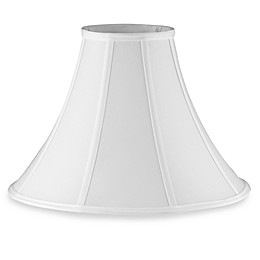 Large 16-Inch Bell Lamp Shade in White