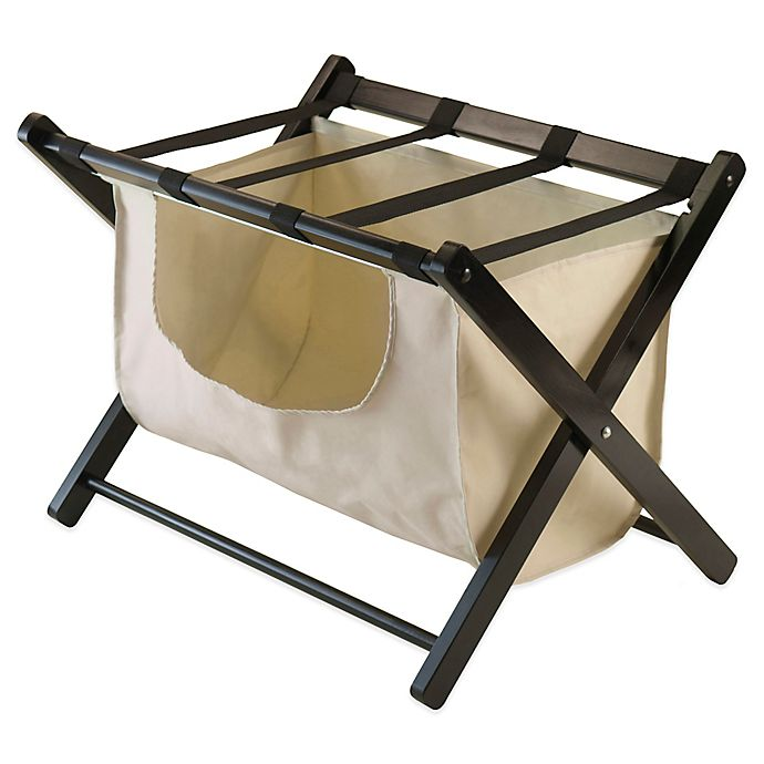 Alternate image 1 for Winsome Trading Dora Luggage Rack with Removable Fabric Basket