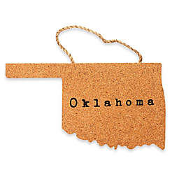 Thirstystone® Oklahoma State Shaped Cork/Rope Trivet in Natural