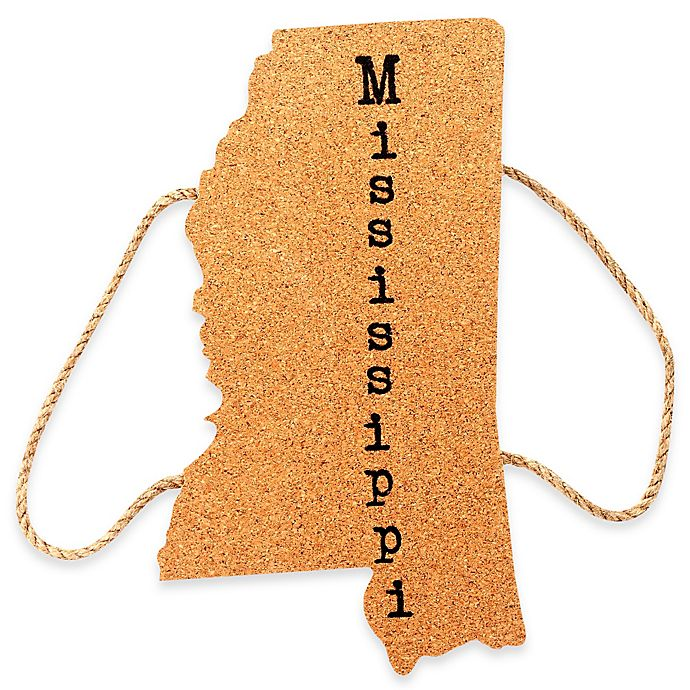 Alternate image 1 for Thirstystone® Mississippi State Shaped Cork/Rope Trivet in Natural