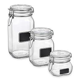 Bormioli Rocco Fido Square Chalk Label Jar