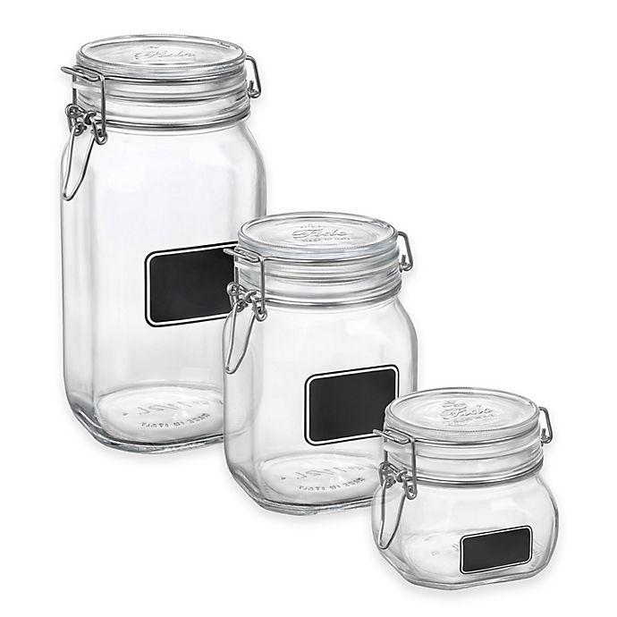 Alternate image 1 for Bormioli Rocco Fido Square Chalk Label Jar