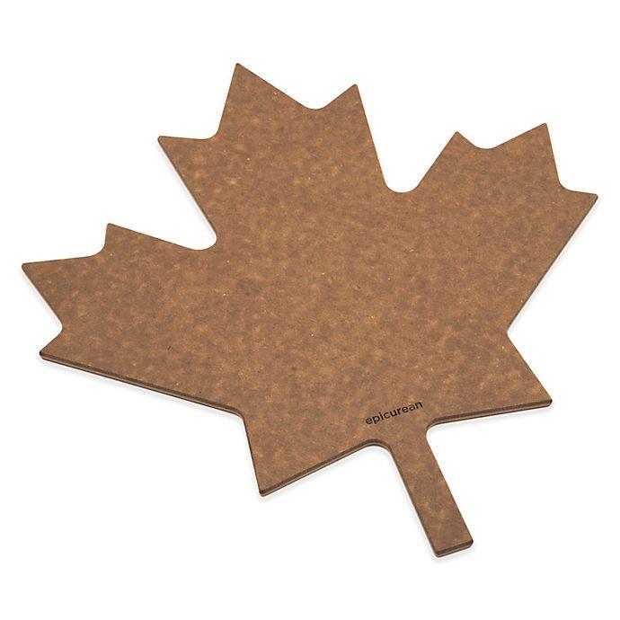 Alternate image 1 for Epicurean® Maple Leaf Cutting Board