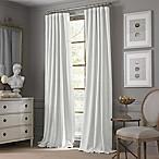 Valeron Estate Cotton Linen 84-Inch Window Curtain Panel in White