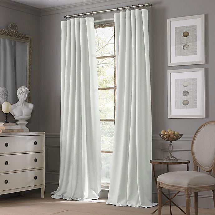 room decor valeron estate cotton linen 108 inch window curtain panel in white. Black Bedroom Furniture Sets. Home Design Ideas