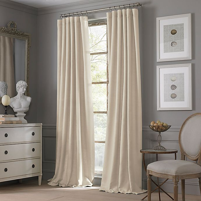 Alternate image 1 for Valeron Estate Cotton Linen 84-Inch Window Curtain Panel in Sand