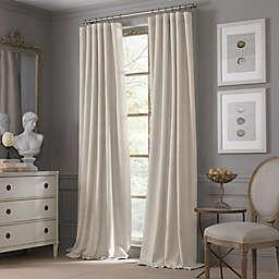 Valeron Estate Cotton Linen 84-Inch Window Curtain Panel in Flax (Single)