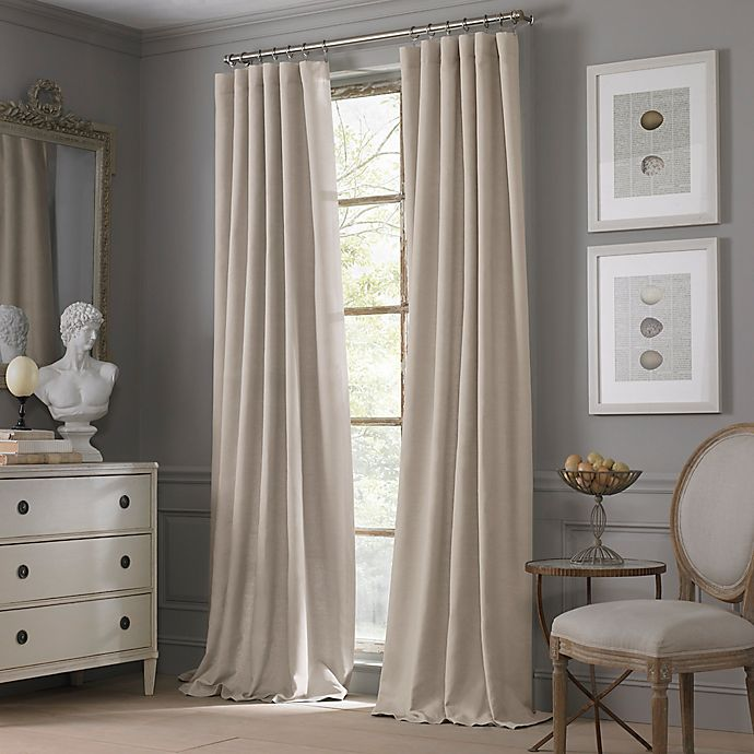 Alternate image 1 for Valeron Estate Cotton Linen 84-Inch Window Curtain Panel in Taupe