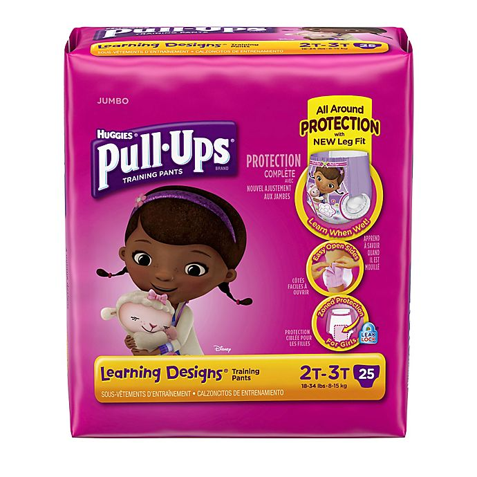 Alternate image 1 for Huggies® Pull-Ups® Learning Designs® Size 2T-3T Jumbo 25-Count Disposable Training Pants