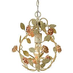 AF Lighting Elements Ramblin' Rose Mini Chandelier in Cream