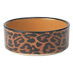 Petrageous® 2-Cup Leopard Buzz Multicolor Pet Bowl