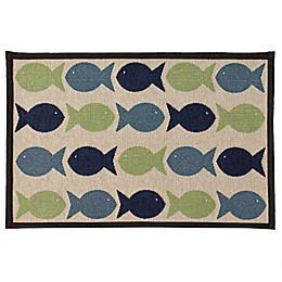 Petrageous® Kool Fishies Polycotton Tapestry Placemat in Blue/Green