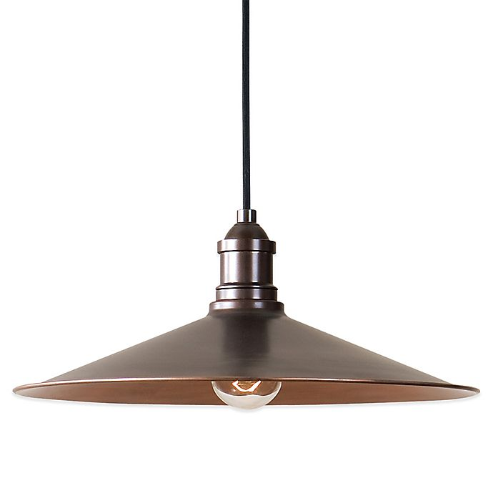 Alternate image 1 for Uttermost Barnstead Pendant Lamp in Antique Copper