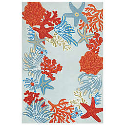 Trans-Ocean Ravella Ocean Scene 7-Foot 6-Inch x 9-Foot 6-Inch Indoor/Outdoor Area Rug in Blue