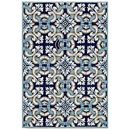 Liora Manne Ravella Floral Tile Indoor/Outdoor Area Rug