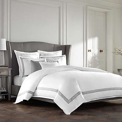 Wamsutta® Collection Luxury Italian-Made Lucca Duvet Cover in White/Grey