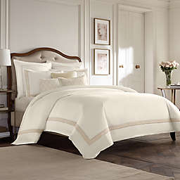 Wamsutta® Collection Luxury Italian-Made Positano Duvet Cover in Ivory/Taupe
