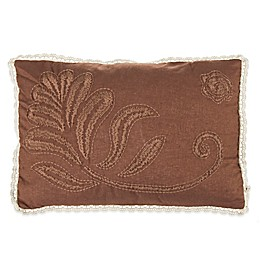 Beekman 1802 Sangerfield Embroidered Oblong Throw Pillow in Brown
