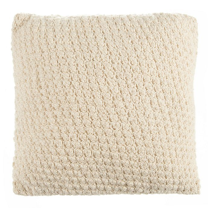 Alternate image 1 for Beekman 1802 Sangerfield Crochet Square Throw Pillow in Natural