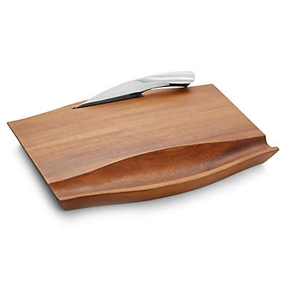 Nambe Drift Cheese Board with Knife