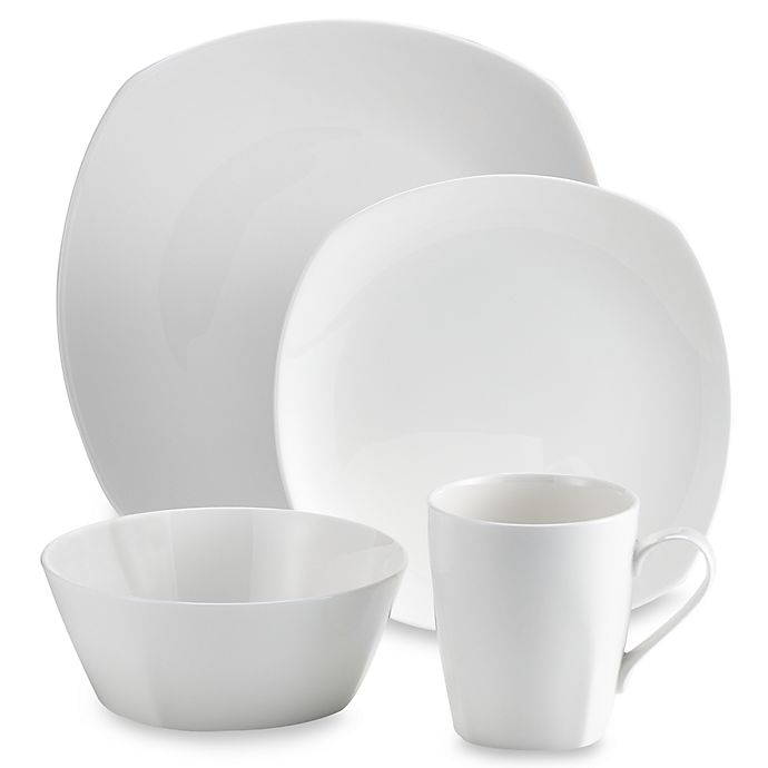 Alternate image 1 for Tabletops Unlimited® Quattro Bone China 16-Piece Dinnerware Set