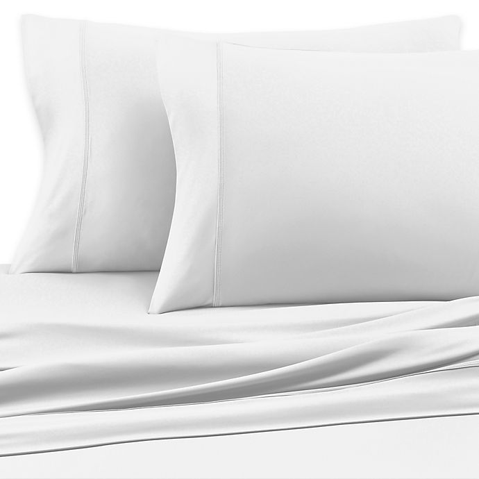 Alternate image 1 for SHEEX® Luxury Copper Performance Twin Sheet Set in White
