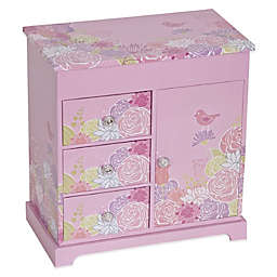Mele & Co. Pearl Girl's Musical Ballerina Jewelry Box in Pink