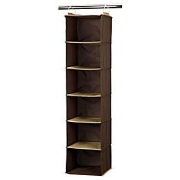 Household Essentials® 6-Shelf Closet Organizer in Coffee