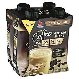 Atkins® 4-Pack Cafe Au Lait Iced Coffee Protein-Rich Shake