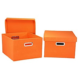 Household Essentials® Collapsible Storage Boxes (Set of 2)