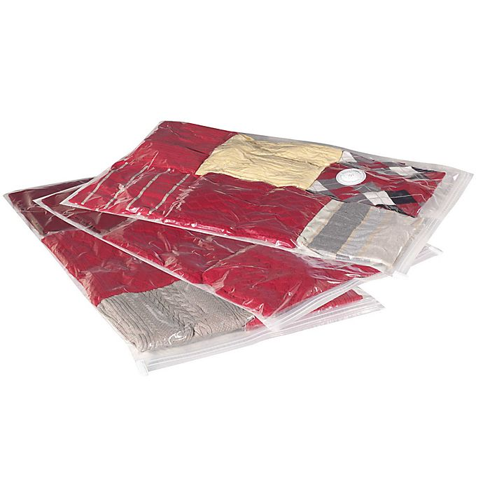 Alternate image 1 for Household Essentials® 3-Pack MightyStor Large Flat Vacuum Bags