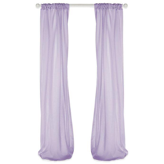 Alternate image 1 for Glenna Jean Penelope 90-Inch Window Panels in Lavender (Set of 2)