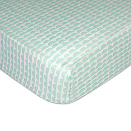 Lolli Living™ by Living Textiles Mix & Match Scallop Fitted Crib Sheet in Mint
