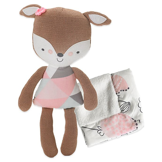 Alternate image 1 for Lolli Living™ by Living Textiles Fiona Deer 2-Piece Softie Plush and Blanket Set