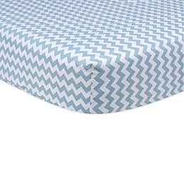 Trend Lab® Blue Sky Chevron Fitted Crib Sheet