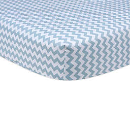 Trend Lab® Blue Sky Chevron Fitted Crib Sheet