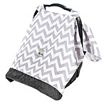 Itzy Ritzy® Cozy Happens Infant Car Seat Muslin Canopy in Grey