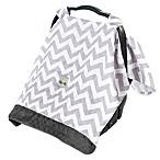 Itzy Ritzy® Cozy Happens Infant Car Seat Muslin Canopy in Grey