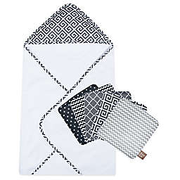 Trend Lab® Ombre Grey 6-Piece Hooded Towel and Washcloth Bouquet Set