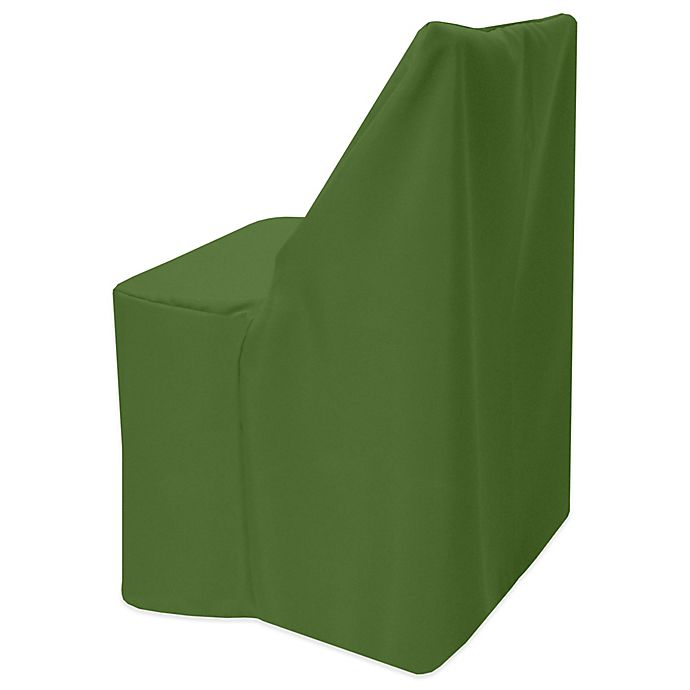 Alternate image 1 for Basic Polyester Cover for Wood Folding Chair in Moss