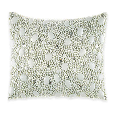Catherine Malandrino Jade Ornate Oblong Throw Pillow in Seafoam
