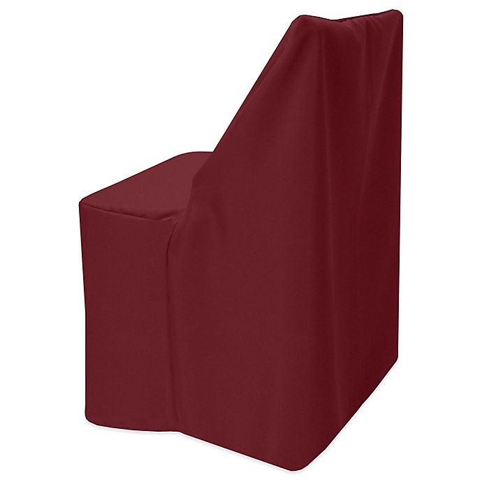Alternate image 1 for Basic Polyester Cover for Wood Folding Chair in Ruby