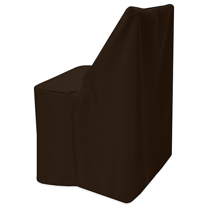 Alternate image 1 for Basic Polyester Cover for Wood Folding Chair in Espresso