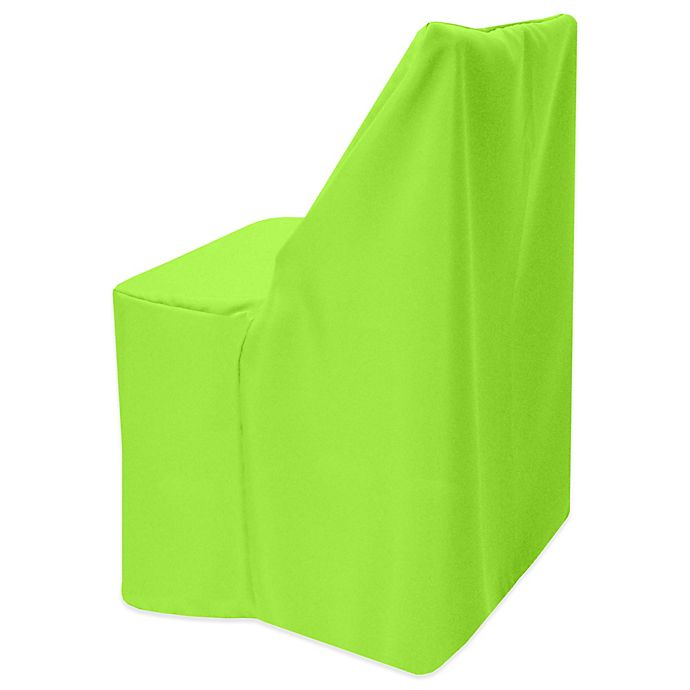 Alternate image 1 for Basic Polyester Cover for Wood Folding Chair in Neon Green