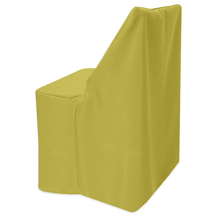 Alternate image 1 for Basic Polyester Cover for Wood Folding Chair in Acid Green