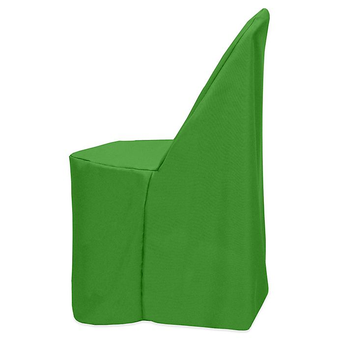 Alternate image 1 for Basic Polyester Cover for Plastic Folding Chair in Emerald