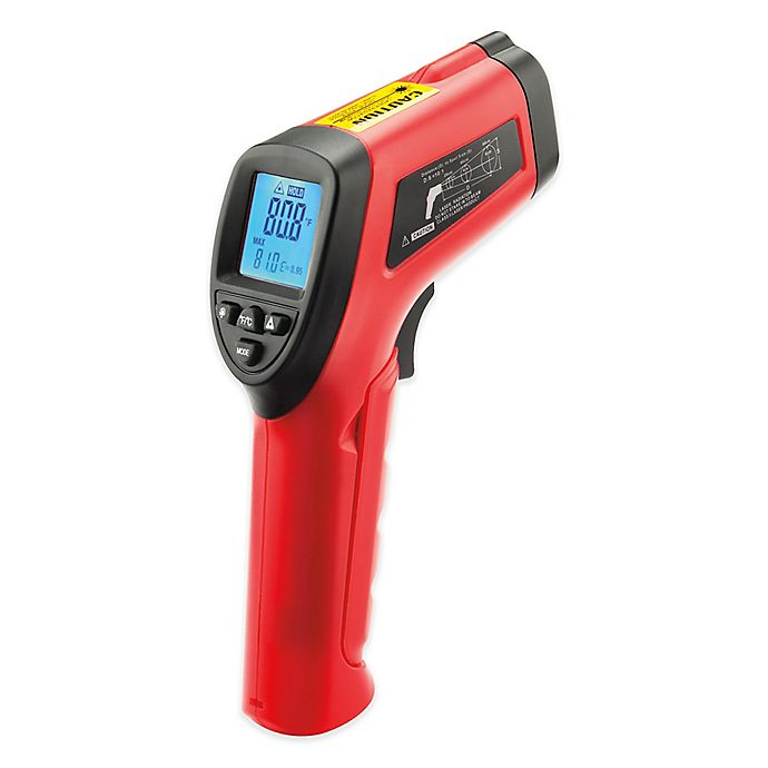 Alternate image 1 for Laser BBQ Surface Cooking Thermometer in Red