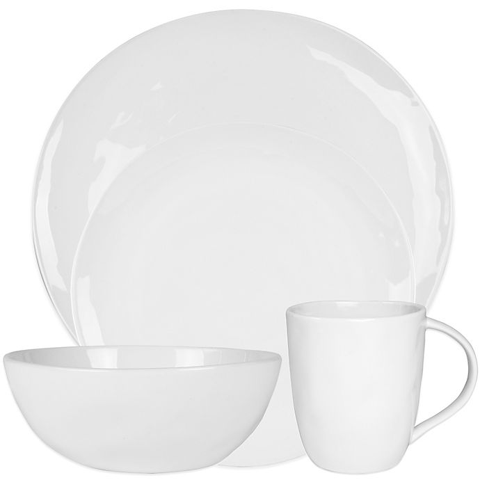 Alternate image 1 for Everyday White® by Fitz and Floyd® Organic Shape Dinnerware Collection