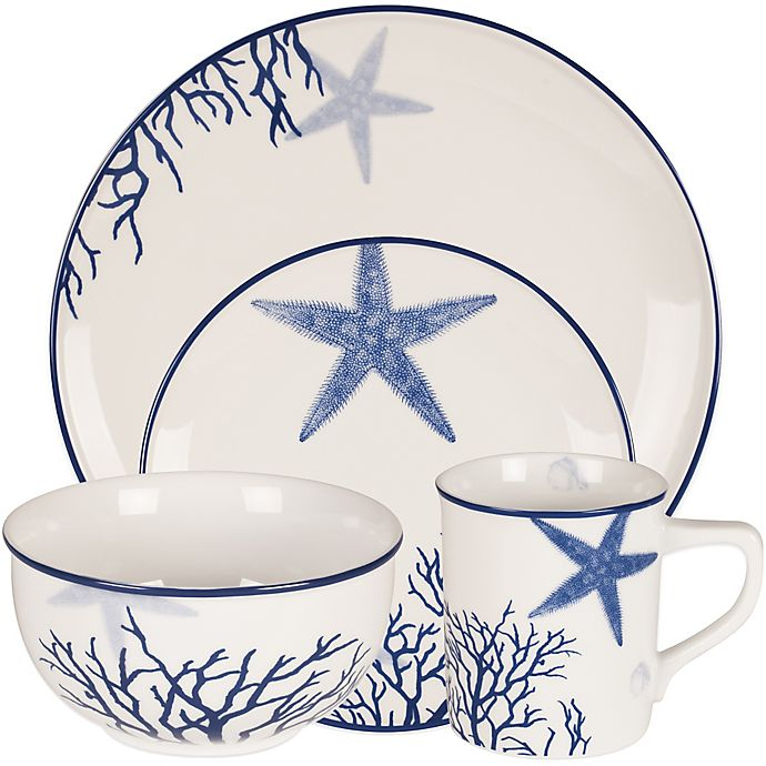Alternate image 1 for Everyday White® by Fitz and Floyd® Coastal Starfish & Coral Dinnerware Collection